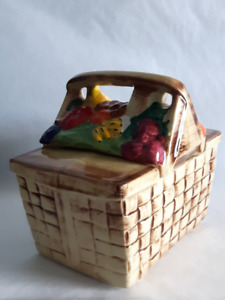 McCoy picnic basket cookie jar with fruits - excellent condition