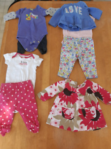 Baby Girl Clothes- 3-6 Months