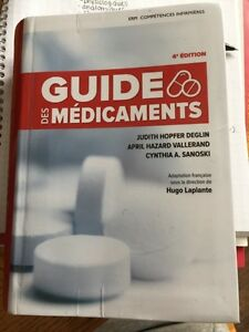 Guide des medicaments 4ed.