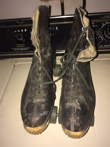 Vintage Leather Roller Skates Size 10 Women