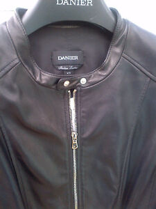WOMEN'S DANIER SOFT LAMB LEATHER SPORTS BLACK JACKET 8-10