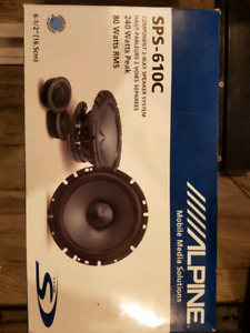 "Alpine 6.5"" component speakers (Never used)"