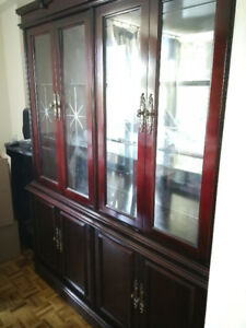 Brown-red China Cabinet
