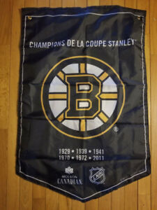 Molson NHL Stanley Cup Banners Boston Bruins