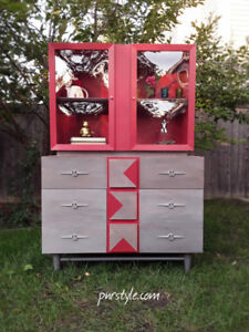 Refinished, Knetchel MID CENTURY MODERN Hutch-FREE DELIVERY