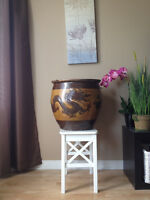 Large Antique Feng Shui Chinese Planter / Grand Pot Antique