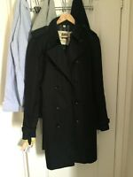 Long Black Burberry Trench Coat mens