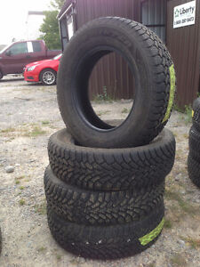 Four 215 65 R16 Goodyear Nordic Winter Snow Tires