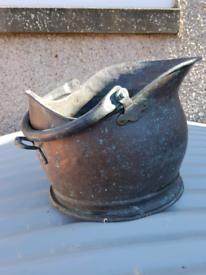 Vintage Copper Coal Scuttle £20.