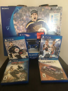 PlayStation 4 500G w/ 2 controllers, 4 Games NHL UFC