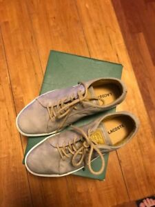 Lacoste leather shoes worn once neutral colour