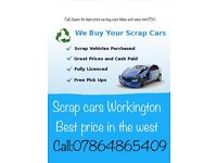 We buy all scrap cars bikes and vans call for moor information