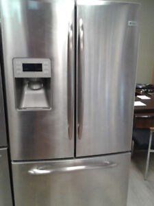 "36"" GE PROFILE FRENCHDOOOR WITH ICE MAKER REFRIGERATOR"