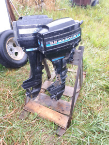 Two 9.8 Hp Mercury Outboards
