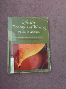 Effective reading and writing - COMM 170 and beyond