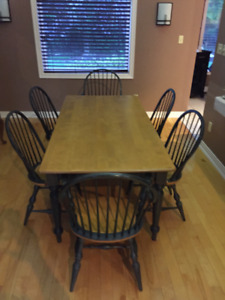 Solid Maple Country Kitchen table and chair