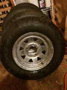 A set of 4 trailer tires new 13 inch  Kitchener / Waterloo Kitchener Area image 1