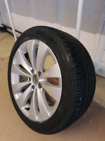 VW PASSAT 17 INCH ALLOY AND TYRE IN EXCELLENT CONDITION