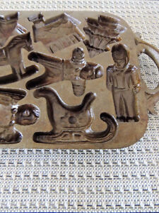 Cast iron, cookie, biscuit, mold, pan London Ontario image 3