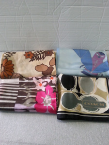 ALL FOR $48  (SILK SCARVES ACOACH, AUGUSTINE,  CREATION RUPONG