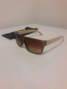 Unisex Treehut Designs Aviator 43 Bamboo wood sunglassess- NEW