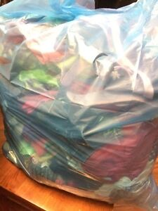 Garbage Bag full of girls clothes size 8 to 10
