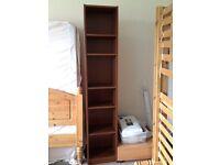Tall book case dark brown chestnut