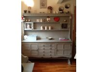 Painted oak kitchen dresser