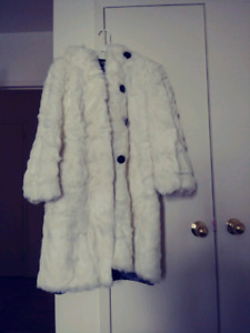 White Rabbit Real Fur coat for women size M-L