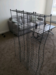 3 metal storage racks