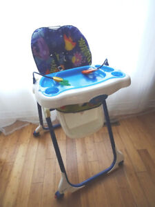 Chaise haute ajustable 7 niveaux, inclinable Fisher Price