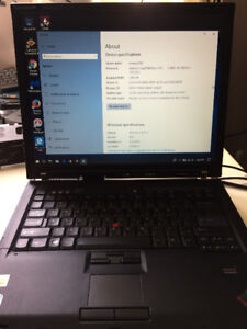 Lenovo Thinkpad T60 C2D 1.8ghz, 160GB HD, 3GB Ram, Win10 Pro