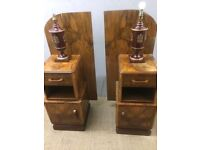 Pair of Art Deco bed side tables free delivery in London