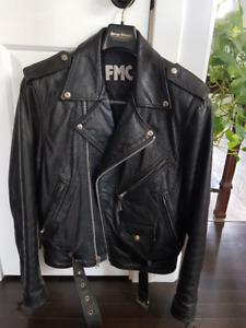 Size 40 FMC Classic Leather Motorcycle Jacket