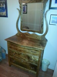 Bureau - commode  avec miroir antique (antiquité)