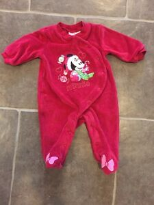 Christmas Minnie Mouse Sleeper 3 months
