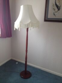 Standing lamp and shade
