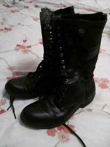 Fall military style combat boots women 8 good condition