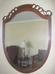 Vintage Solid Wood Framed Mirror