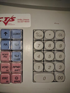 CASH REGISTER SHARP XEA 203a, KEYS, MANUAL, 10 ROLLS, PROGRAMM