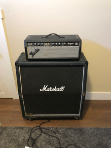 81 fender bassman head and Marshall 1960a 412 cab
