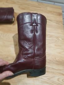 Justin Western Ladies Boots, USA size 6 1/2, UK 4 1/2.