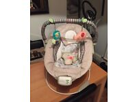 Baby bouncer with tags