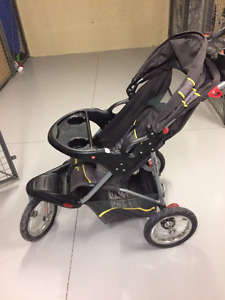 Jogging Stroller, three wheels(air filled), folds for storage