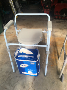 WALKER/COMMODE CHAIR/ATTENDS