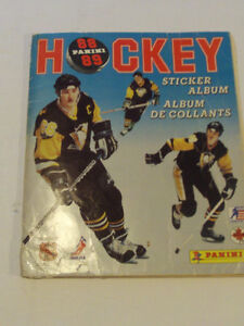 ALBUM DE HOCKEY DE STICKERS PANINI COMPLET 1988-89