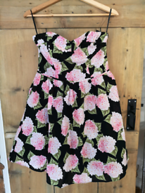 Lovely Size 12 black and floral dress brand new