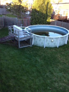 Above ground swimming pool with all accessoires for FREE