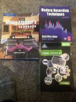Pro tools and audio recording books.