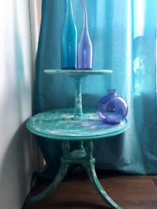 Shabby chic butlers side table